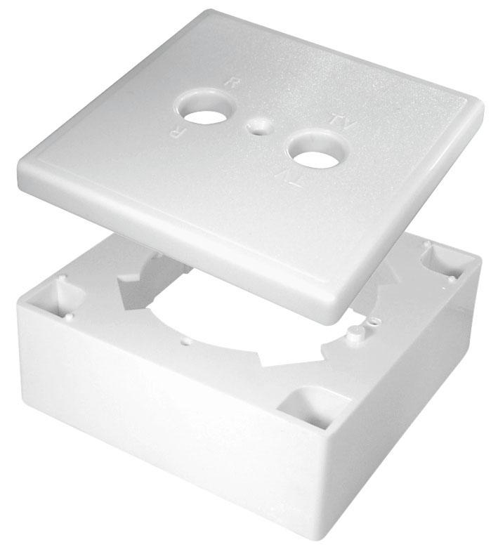 Antennirasian pintakotelo 2-reikäinen