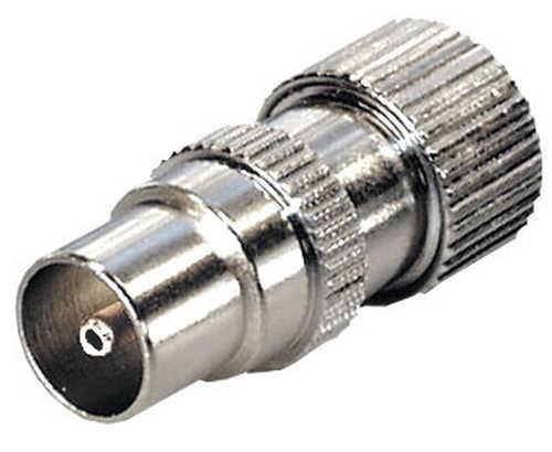 FS 14 IEC-liitin suora uros, täysmetalli