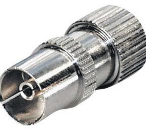 FS 15 IEC-liitin suora naaras, täysmetalli